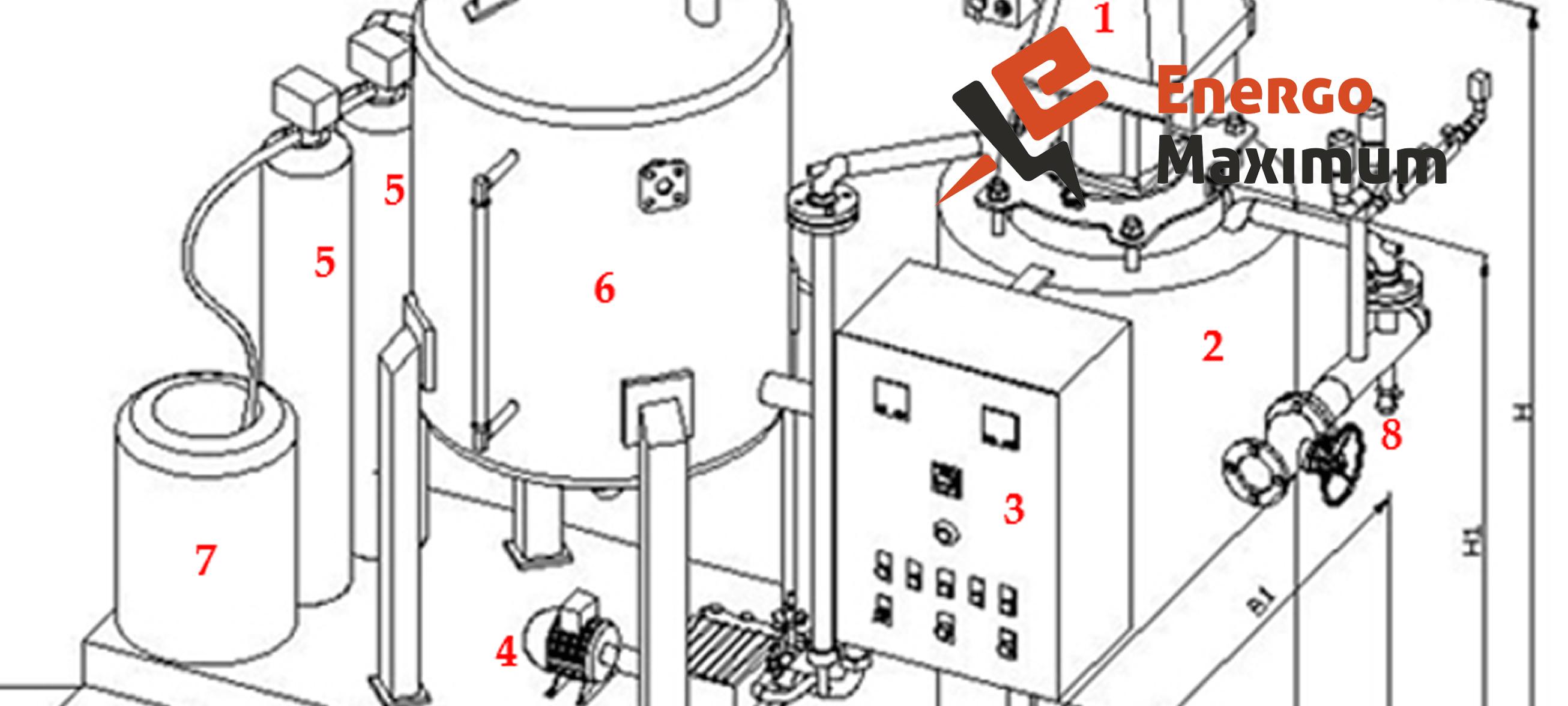 Схема парогенератора